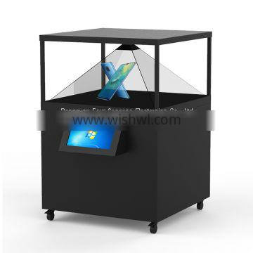 360 degree 3D Hologram Pyramid Cube Holobox For Holographic Advertising 120x120CM