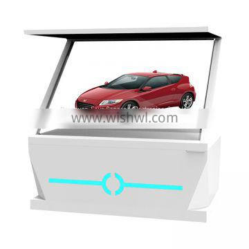 55 inch 180 degree 3d pyramid holographic display 3d showcase