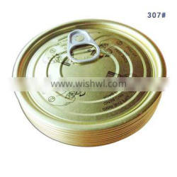 307 tinplate Easy open can end for canned tuna