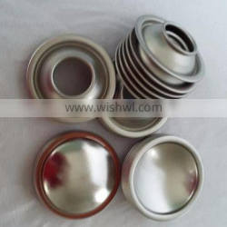aerosol can dome and cone parts