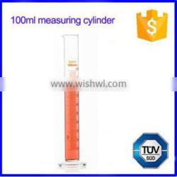 Measuring cylinder with spout & round base graduated test tube