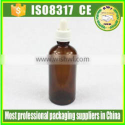100ml new product amber glass dropper bottle glass bottle by Paypal payment