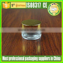 100g clear glass jar with matte silver lid