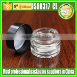 50g clear glass jar with matte silver lid