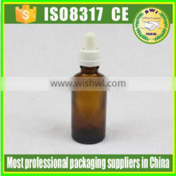 50ml new product amber glass dropper bottle glass bottle by Paypal payment