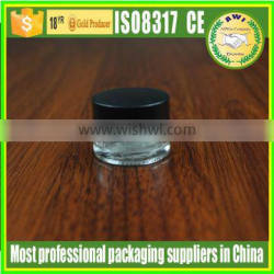 10g clear glass jar with matte silver lid