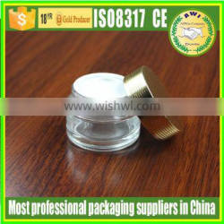 200g clear glass jar with matte silver lid