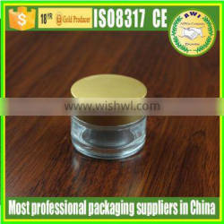 50g glass cosmetic packaging jar with silver lid