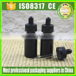 empty frosted black 30ml glass dropper bottles manufacturers
