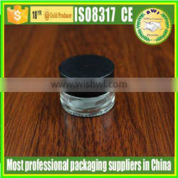 20g clear glass jar with matte silver lid