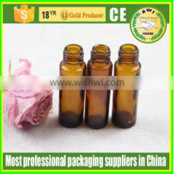10ml round glass roll on bottle with stainless heel roller ball