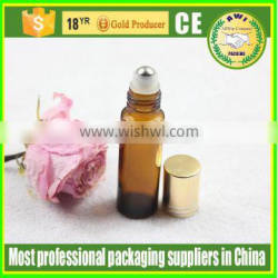 cheap 10ml glass roll on bottle with stainless heel ball
