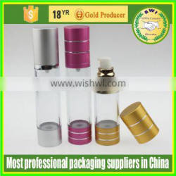high quality airless cosmetic bottle 30ml best price wholesale