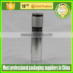 China man face lotion airless pump bottle 30ml 50ml silver bottle