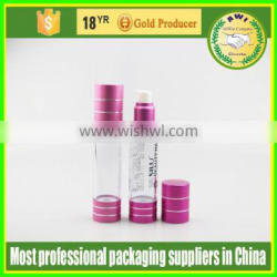 high quality acceprt customized logo colorful airless bottles 100ml