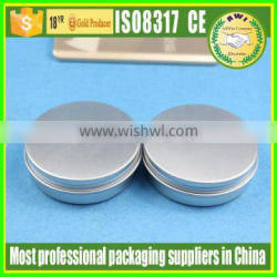 Empty aluminum cosmetic cream tin jars with lid for sale