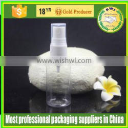 Plastic PET empty spray bottle or snap bottle for cosmetic