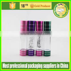 wholesale 100ml cosmetic containers silver airless pump bottle lotion bottle