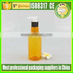 plastic lotion bottle shampoo bottle packaging with pump sprayer