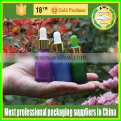 red sprayed e- liquid bottle 15ml0.5oz glass drops bottles for eliquid with