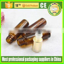 2016 hot sale 10ml glass roll on bottles with stainless steel roller ball