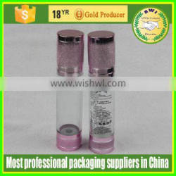 high quality cosmetic bottle nice pink color airless bottle 100ml