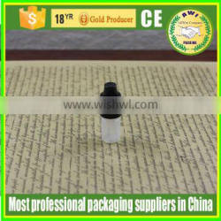 3ml PE Semi-transparent dropper bottles with white childproof and lock cap
