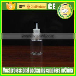 hot selling 5ml pet e-juice dropper bottle with long thin tip