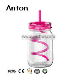 750ml cheap mason jars with lids and straws