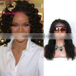 2018 Factory price 100% brazilian human virgin hair full lace wig in deep curly 9A grade cuticle aligned hair