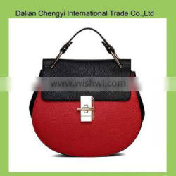 Wholesale two usage piggy design ladiess pu tote bag with chain strap
