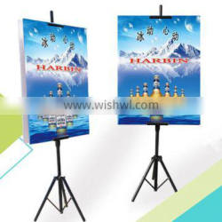 Tripod Retractable Easel Banner Stand