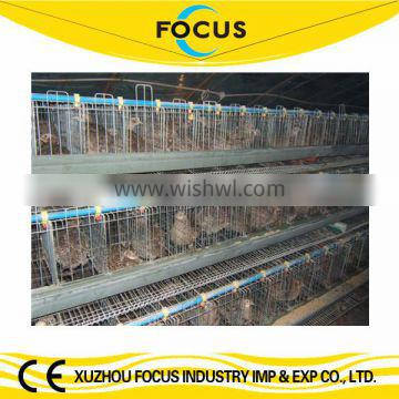 Focus industry hot galvanized chicken battery cage to Mombasa port 3 tiers