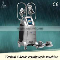 High quality super fat removal criolipolise machine 4 handles& 2 can use together