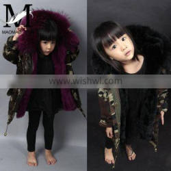 High Quality 2016 New Winter Kids Coat WIth Raccoon Fur Collar Child Fur Parka