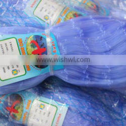 High quality Nylon Monofilament Net with blue color 180meters length with factory hot sales