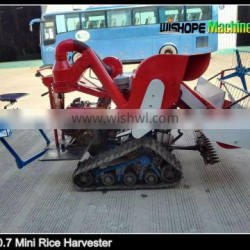 4LZ-0.7 Mini rice combine harvester with 1.2m cutting width