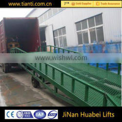 Dock lever container warehouse unloading ramp