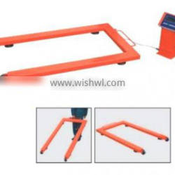 Competitive Price U Shape Hand Table Truck With Scale