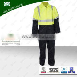 China woven fabric fireproof material fireproof fabricblack with coating bag high visibility material uniform used in roadway