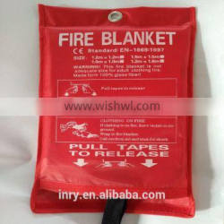 840GSM 1MM Fire And Rescue Industrial Fire Blanket Cheap Wholesale