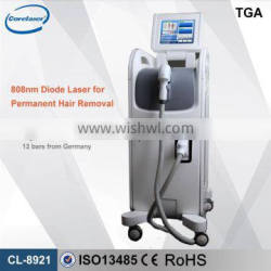 Multifunctional diode laser epilator/laser hair removal machine 808 nm diode laser with high quality