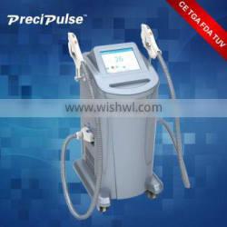CE / FDA certificated Permanent 3 in 1 Medical shr e-light ipl hair removal
