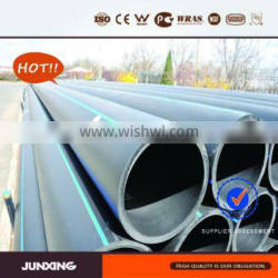 JunXing Brand hdpe pipe SDR21 hdpe pipe pn8 for water supply project