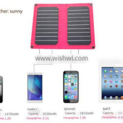 Smartphone USB 2.0 solar charger , 5.5v 1.93a solar battery charger