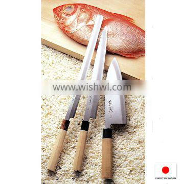 High quality knife of kitchen with razor-edge made in Japan