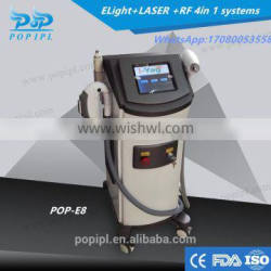 shr ipl laser3300w Hair Removal IPL laser Permanent hair removal+Tattoo Removal machine POP-E8 Laser +E-LIGHT+RF+Black doll baby