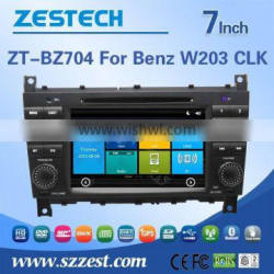 High performance dual-core in-dash car audio dvd for BENZ W203 CLK with Rear View Camera GPS BT Phonebook TV Radio