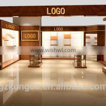 Nice! Clothes rack store wooden clothes shop counter table design