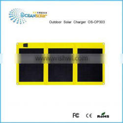 30W high efficiency outdoor portable folding solar panel for laptop/notebook/12V batteries/tablet pc/power bank